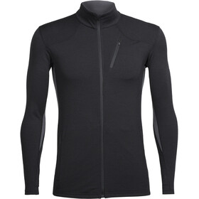 Icebreaker M's Fluid Zone LS Zip Shirt black/black